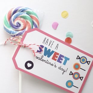 Kids Valentines. This lollipop valentine is perfect for any party. This one is created with lollipop erasers! Four Sided Design