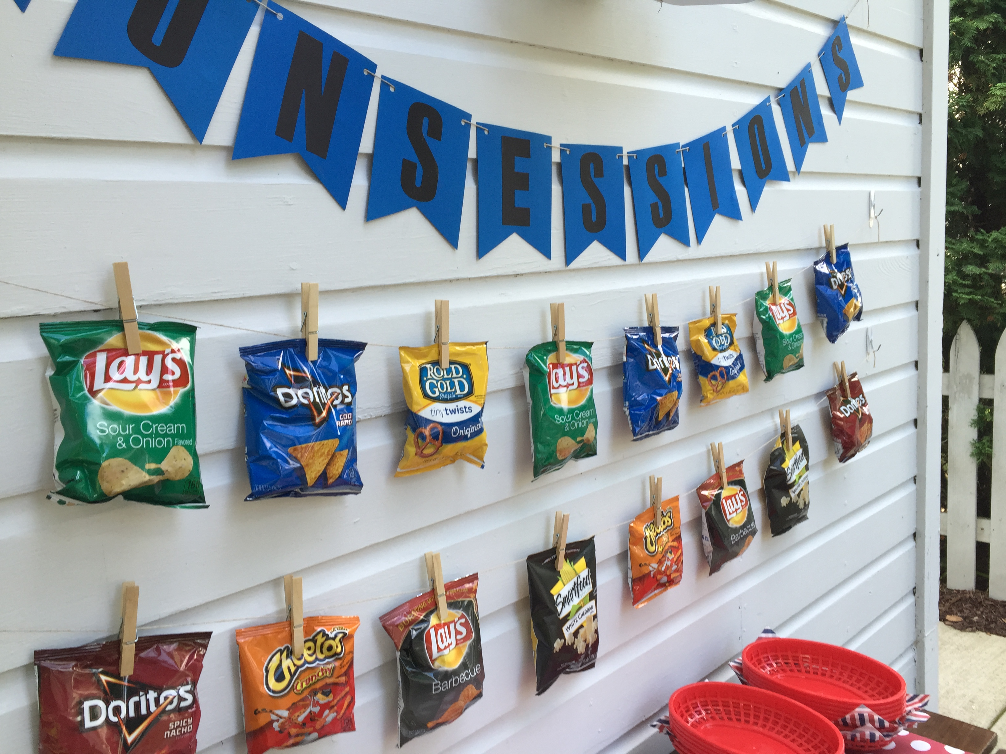 Concessions Stand birthday party- Four Sided Design